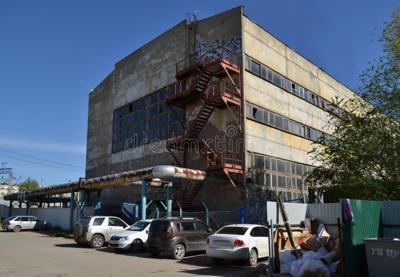 Verlaten fabriek royalty-vrije stock afbeeldingen