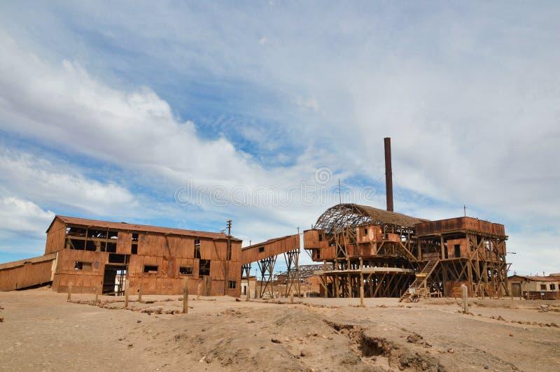 Verlaten fabriek, Santa Laura, Chili royalty-vrije stock foto's