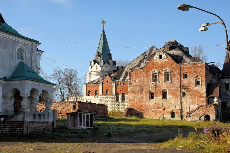 Verlaten Feodorovsky gorodok in Tsarskoye Selo, St Petersburg, stock foto