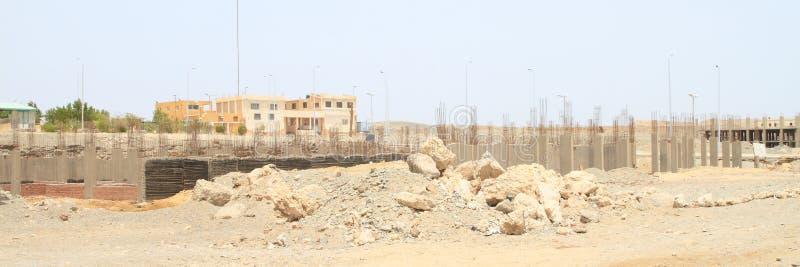 Verlaten grondslag van bouw in Marsa Alam royalty-vrije stock foto