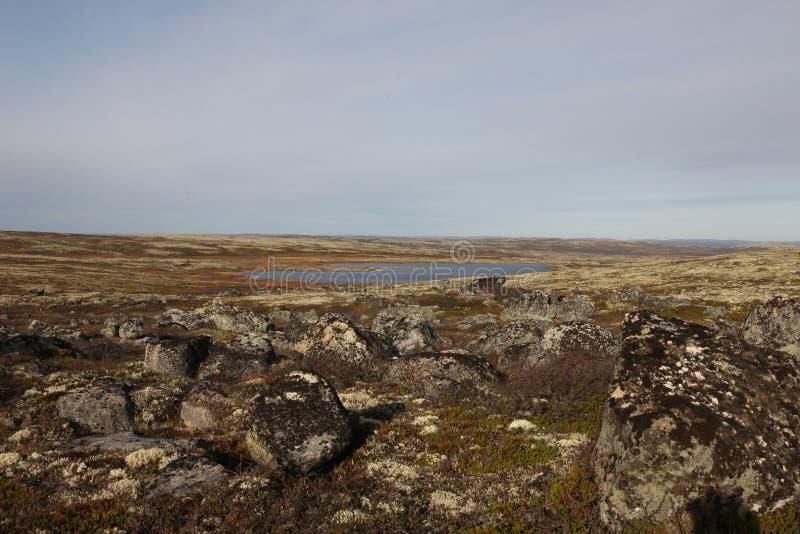 Verlaten het gebied van Moermansk Rusland in het noorden Russische Federatie royalty-vrije stock fotografie