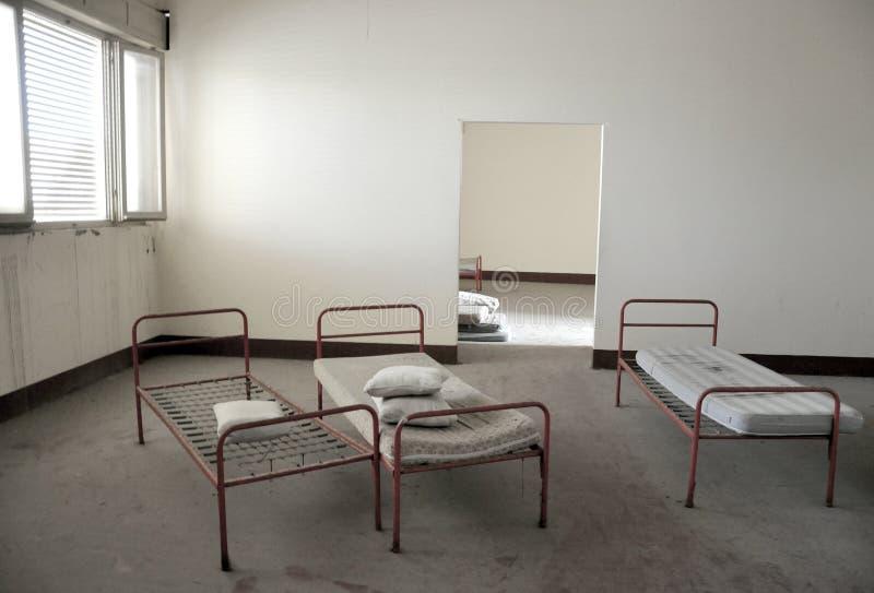 Verlaten het ziekenhuisruimte in Italië royalty-vrije stock foto