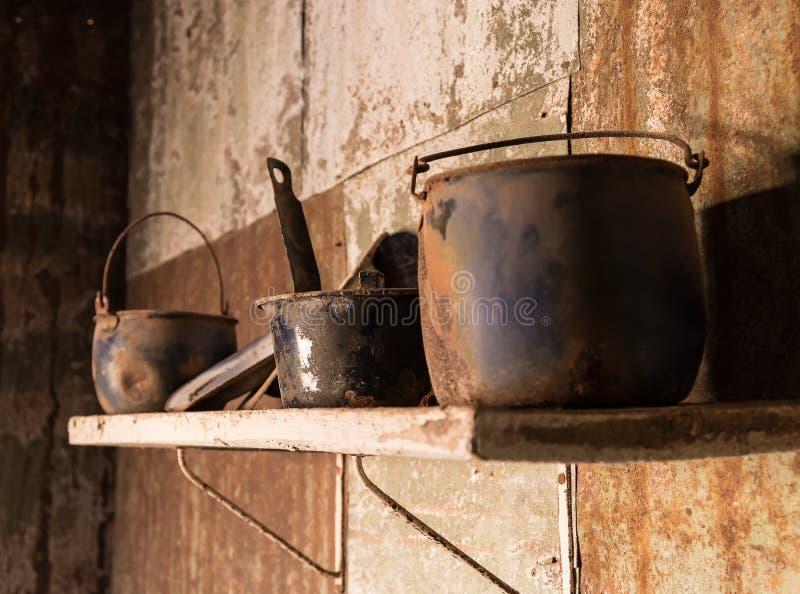 Verlaten huis in Humberstone-spookstad in Noordelijk Chili stock afbeelding