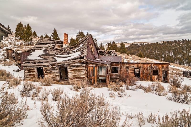 Verlaten Huis of Zaken stock afbeeldingen