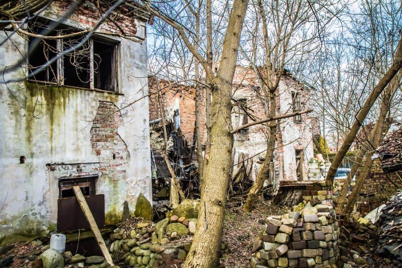 Verlaten huizen royalty-vrije stock foto's