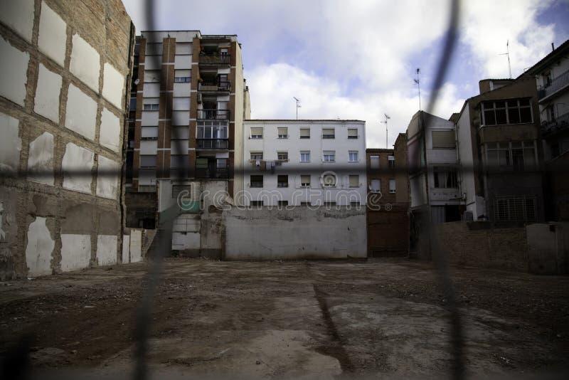 Verlaten huizenstad royalty-vrije stock foto
