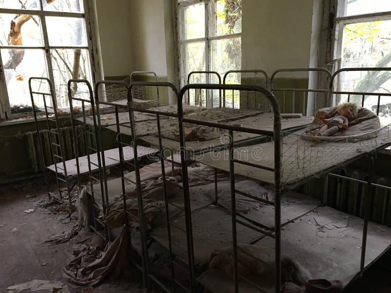 Verlaten kleuterschool van Kopachi royalty-vrije stock foto's