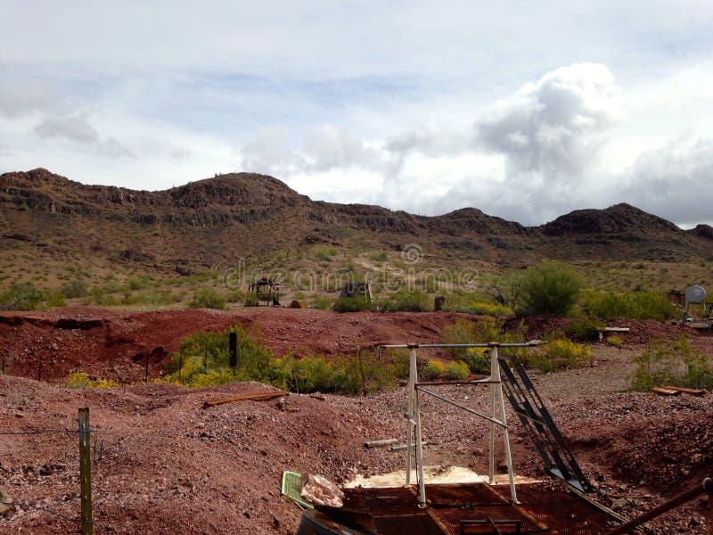 Verlaten Mijn dichtbij Gila Bend, Arizona royalty-vrije stock afbeelding