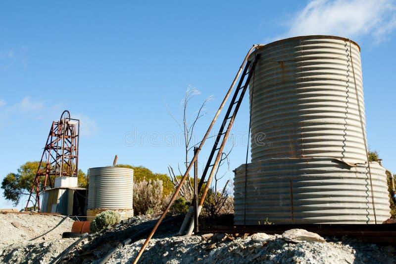 Verlaten Oude Mijnbouwverrichting stock foto's