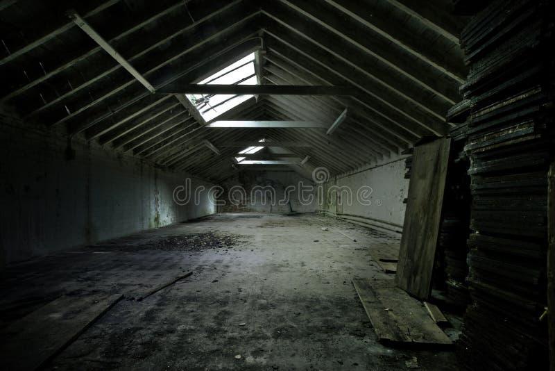 Verlaten Pakhuis royalty-vrije stock afbeelding