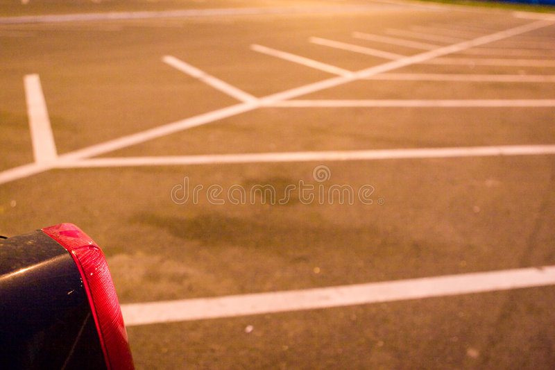 Verlaten parkeerterrein royalty-vrije stock foto's