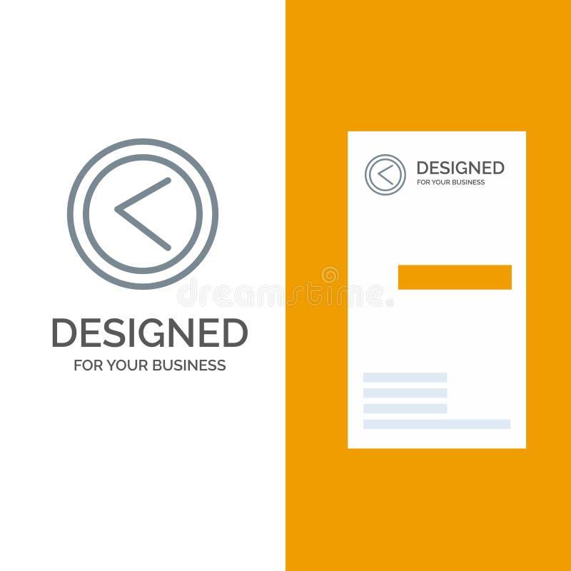 Verlaten pijl, Interface, Gebruiker Grey Logo Design en Visitekaartjemalplaatje vector illustratie