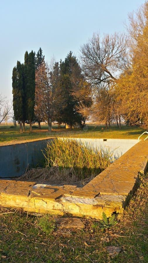 Verlaten Pool stock foto