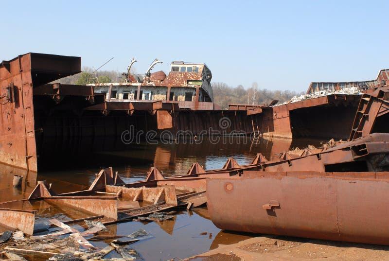 Verlaten Post in Tchernobyl royalty-vrije stock fotografie