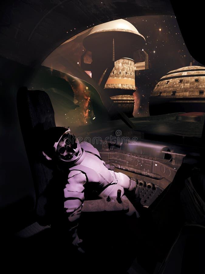 Verlaten ruimtepost vector illustratie