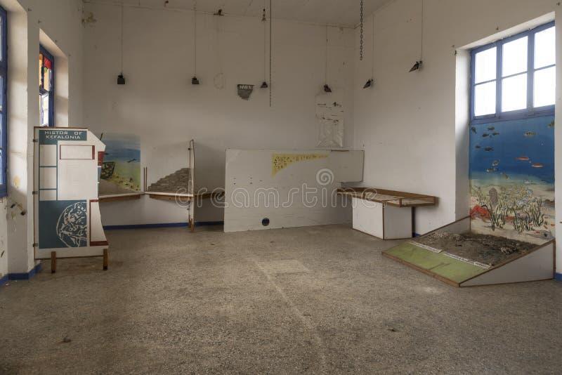 Verlaten School/museum in Fiskardo Kefalonia royalty-vrije stock afbeeldingen