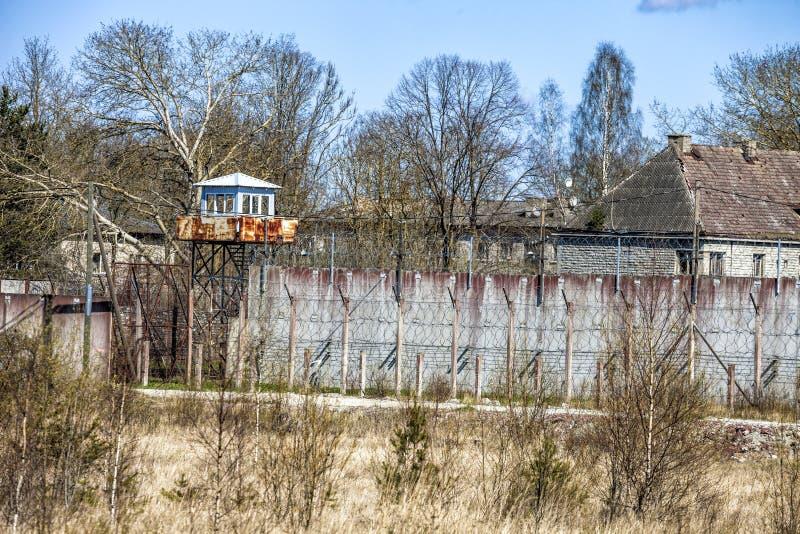 Verlaten Sovjettijdgevangenis royalty-vrije stock foto