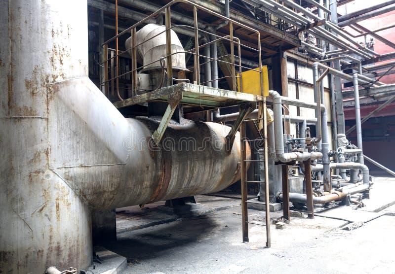 Verlaten staalfabriek royalty-vrije stock foto's