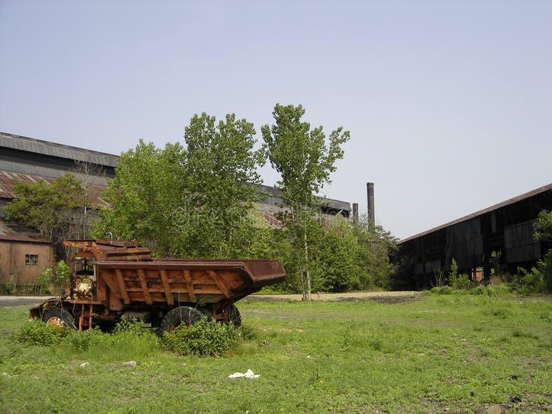 Verlaten staalfabriek royalty-vrije stock fotografie