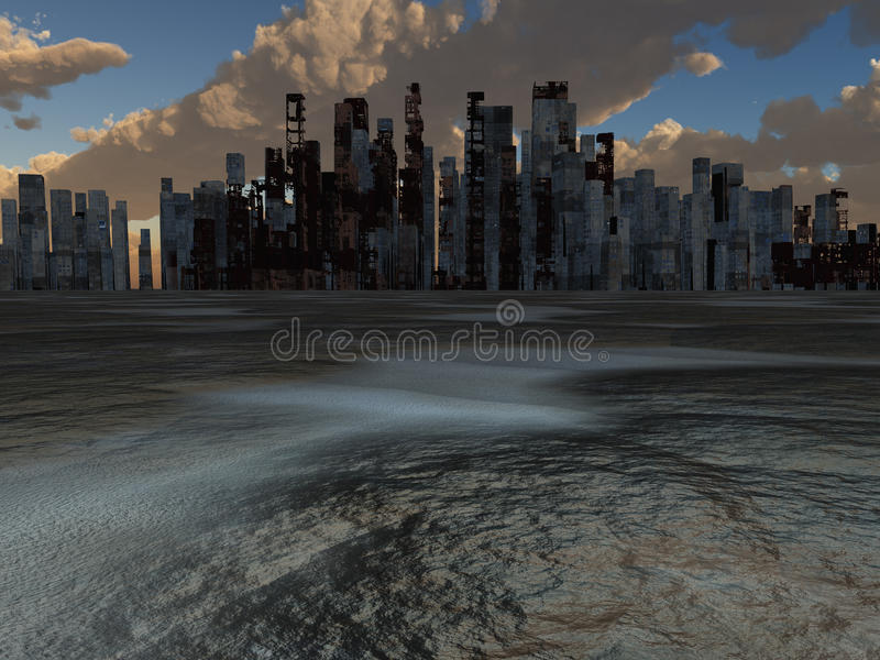 Verlaten Stad vector illustratie