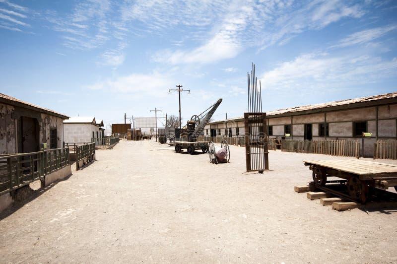 Verlaten stad - Humberstone, Chili stock fotografie