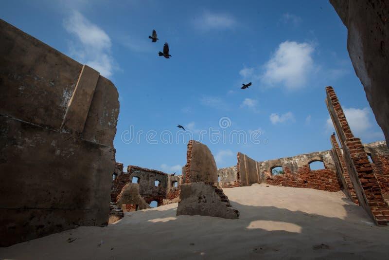 Verlaten stad in tamilnadu India royalty-vrije stock afbeelding