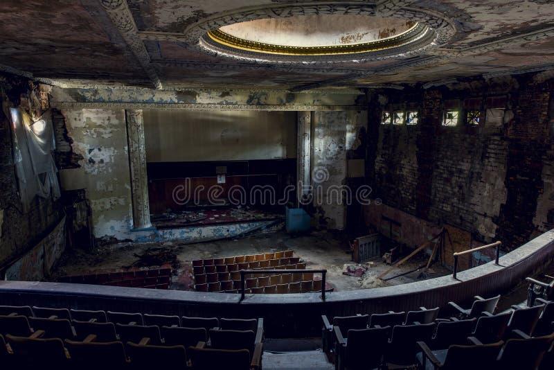 Verlaten Theater - Buffels, New York stock foto