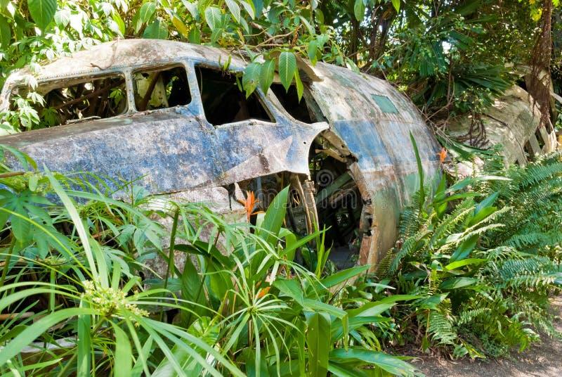 Verlaten verpletterd vliegtuig in Kuranda, Queensland royalty-vrije stock foto