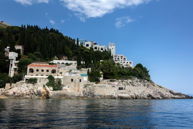 Verlaten vijfsterrenhotelbelvedere royalty-vrije stock foto's