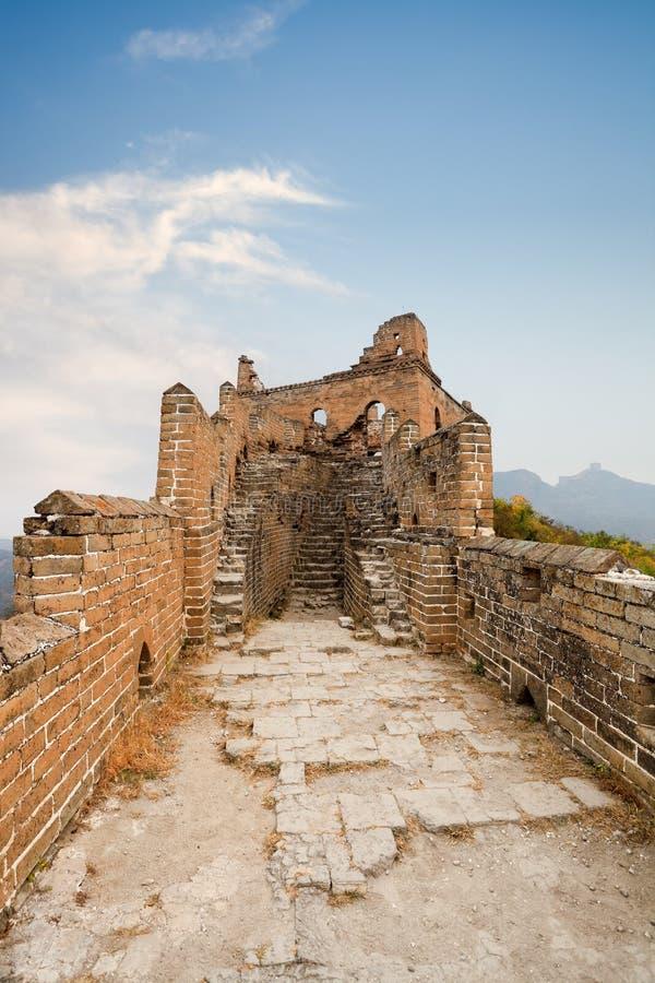 Verlatenheid van de grote muur royalty-vrije stock foto's