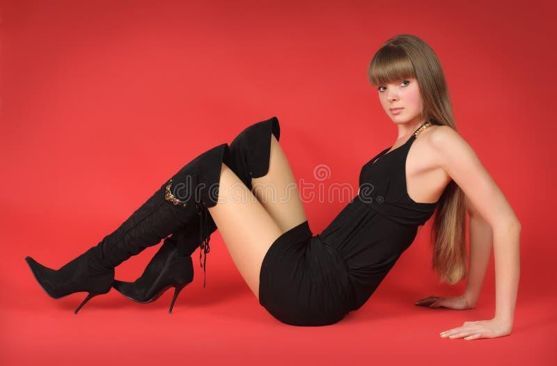 Verleidelijk blond meisje stock foto's