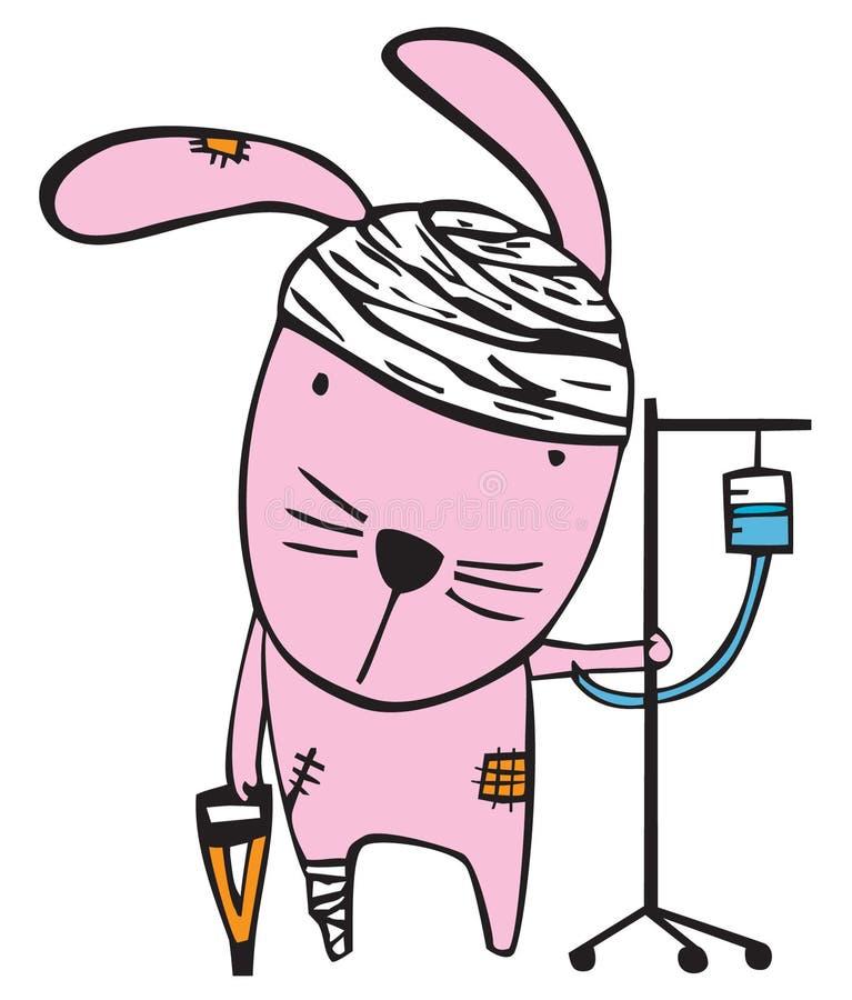 Verletztes Kaninchen stockbilder