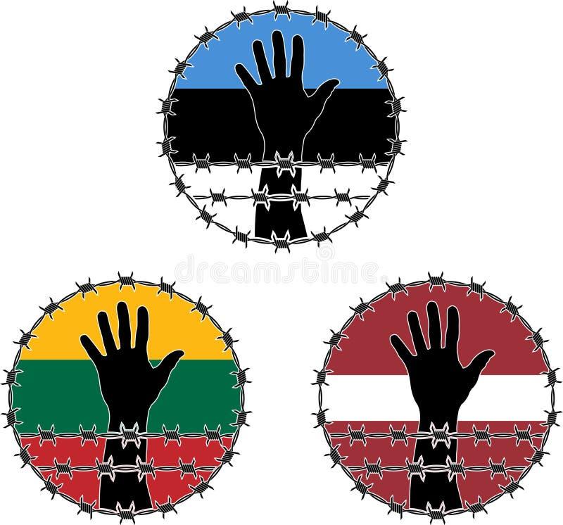 Verletzung der Menschenrechte in den baltischen Staaten stock abbildung
