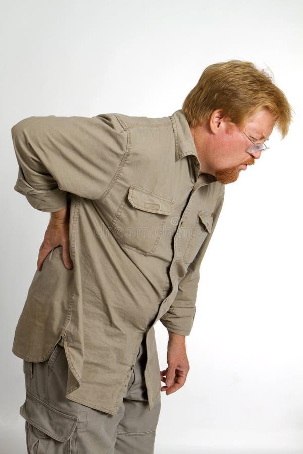 Verletzung der rückseitigen Schmerz lizenzfreies stockbild