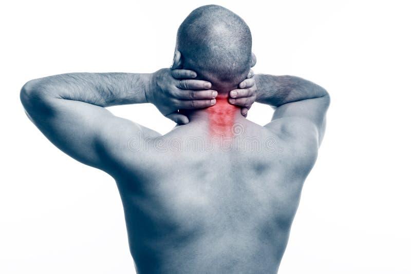 Verletzung des Halses stockfotos