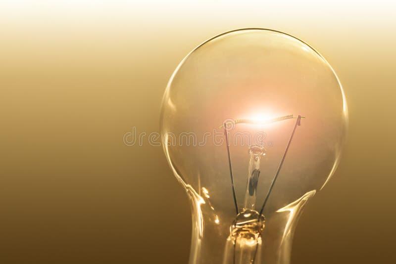 Verlicht gloeilampendetail stock foto
