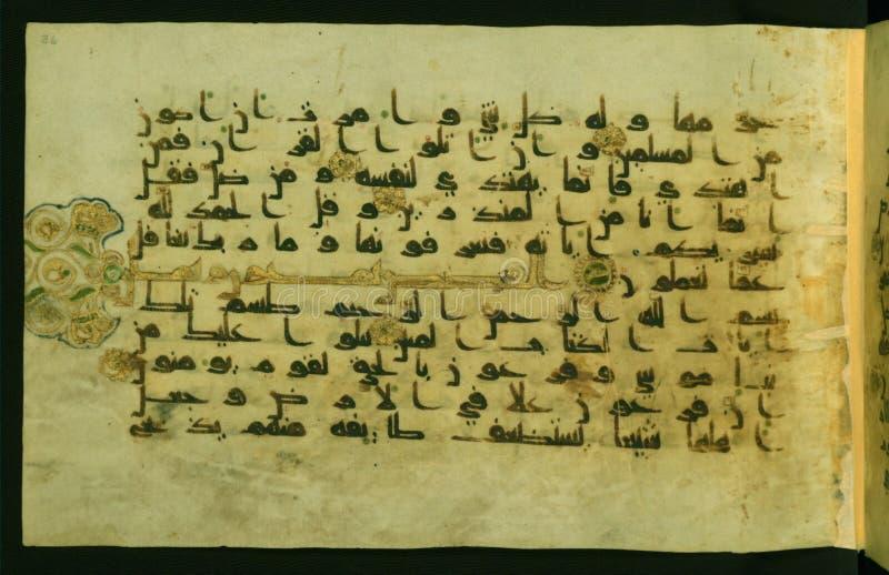Verlicht Manuscript Walters Art Museum Ms W 554, fol 36a stock foto