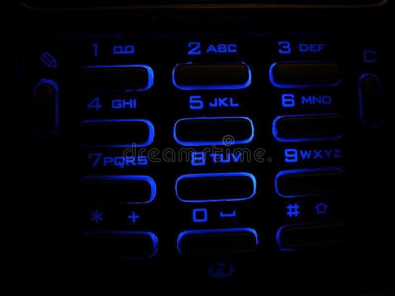 Verlicht telefoontoetsenbord royalty-vrije stock afbeeldingen