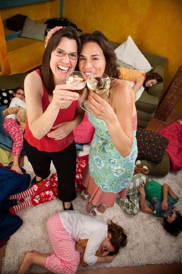 Verlichte Mamma's met Dranken royalty-vrije stock foto