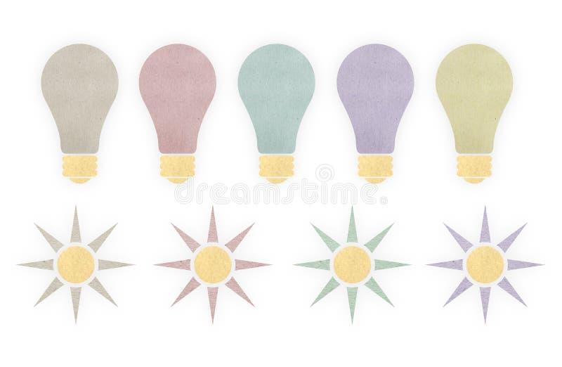 Verlichting en zonnen van document stock foto