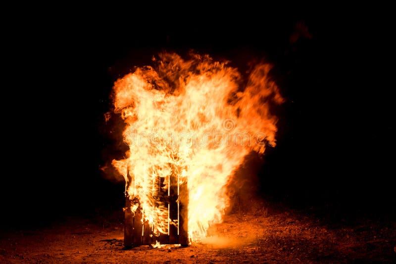 Verlichting van vuren bij Joodse vakantie van Vertraging Baomer royalty-vrije stock afbeelding