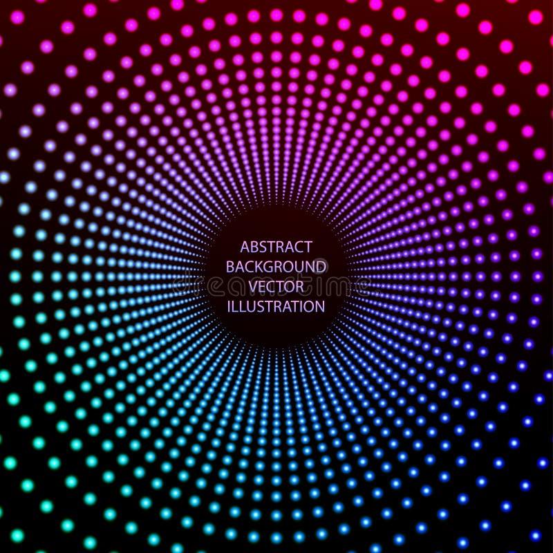 Verlichtings abstracte achtergrond Vector illustratie stock illustratie