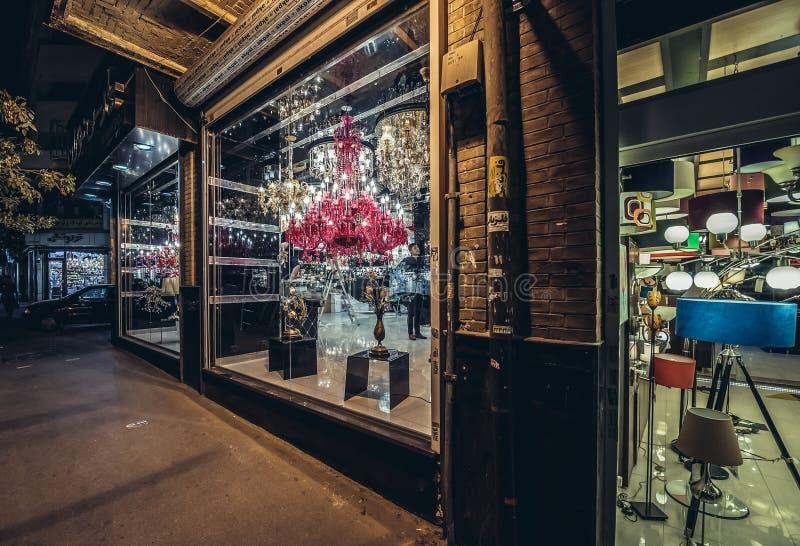 Verlichtingswinkel in Teheran royalty-vrije stock fotografie