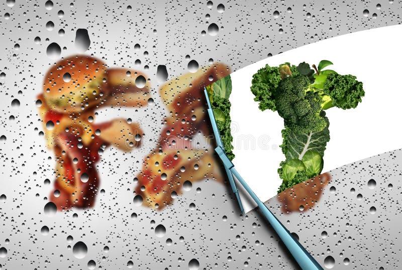Verlieren Sie Fett lizenzfreie abbildung