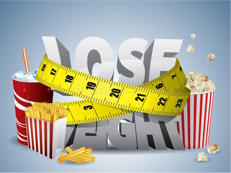 Verlieren Sie Gewicht lizenzfreie abbildung