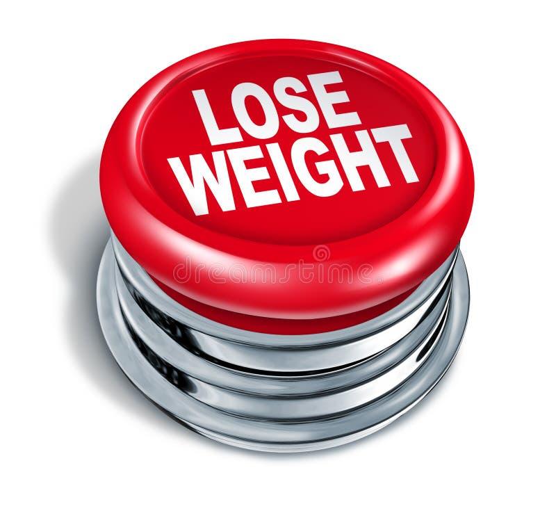 Verlieren Sie Gewicht schnelle Taste lizenzfreie abbildung