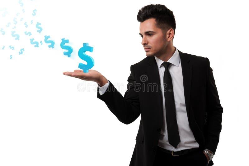 Verlierendes Geld des Maklers lizenzfreie stockfotos