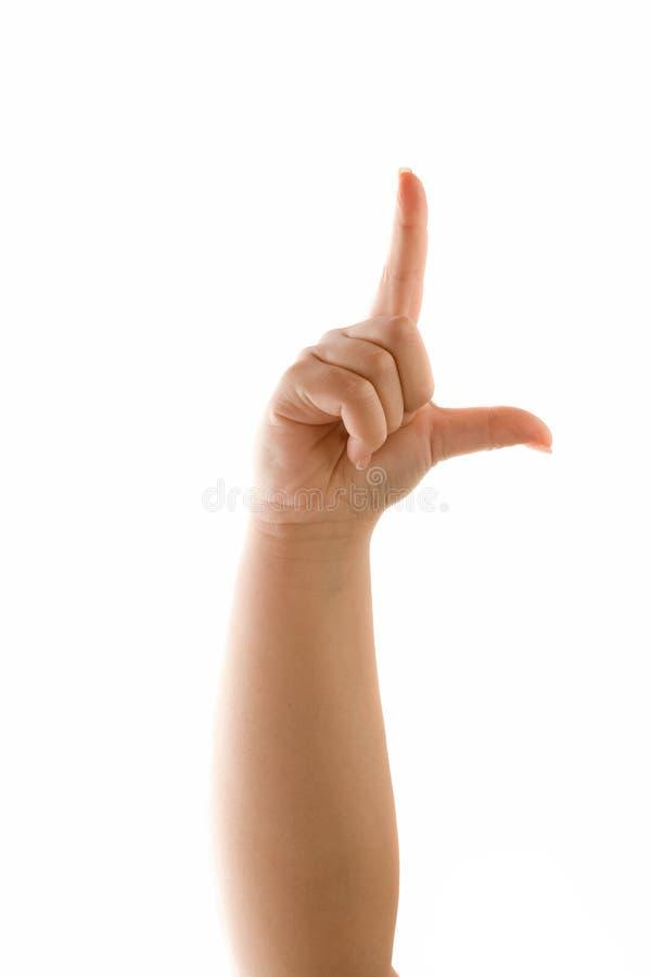 Verlierer-Handzeichen stockfotos