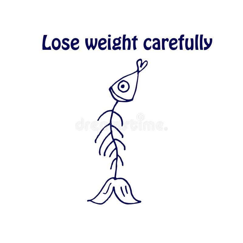 Verlies zorgvuldig gewicht royalty-vrije illustratie