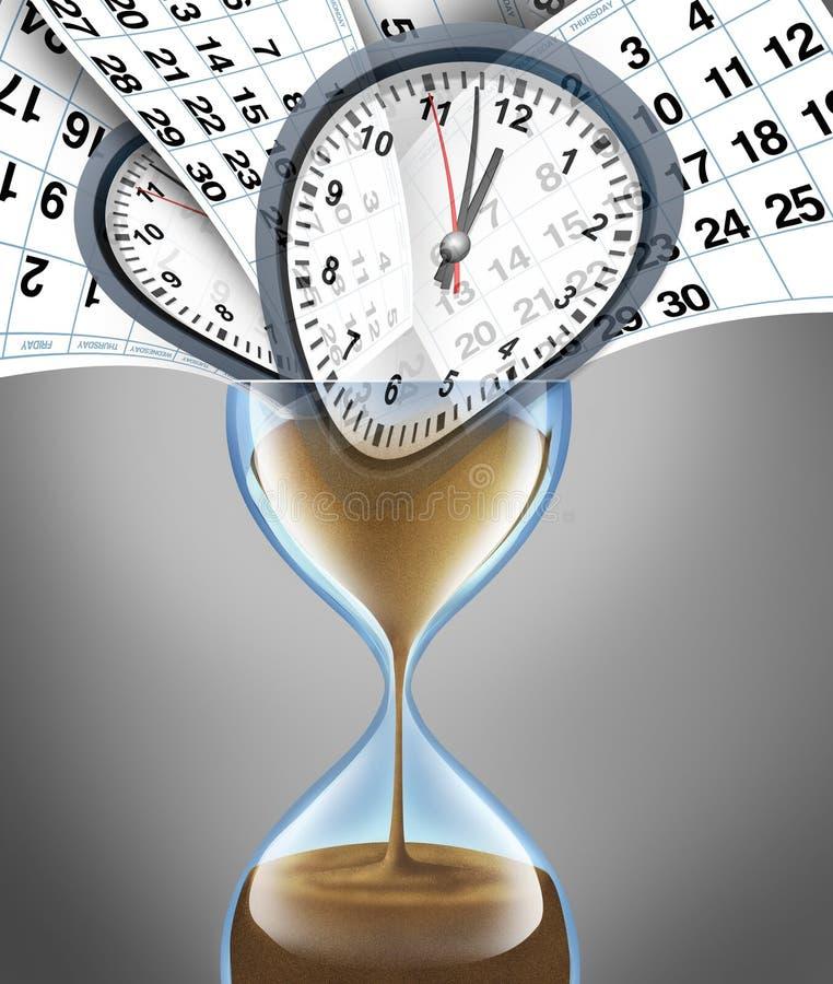 Verliezende Tijd stock illustratie